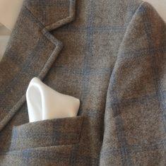 pañuelo de bolsillo blanco