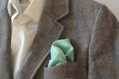 """Pañuelo de bolsillo para caballero de 36x36 cm ( 14""""x14"""") Degradado verde."""