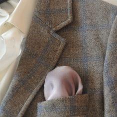 """Pañuelo de bolsillo para caballero de 36x36 cm ( 14""""x14"""") Degradado morado."""