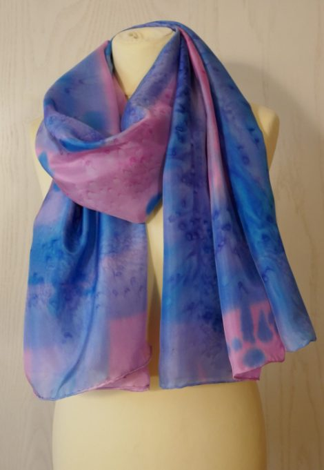 Echarpe Azul y rosa